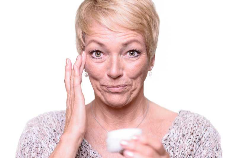 koža lica u klimaksu