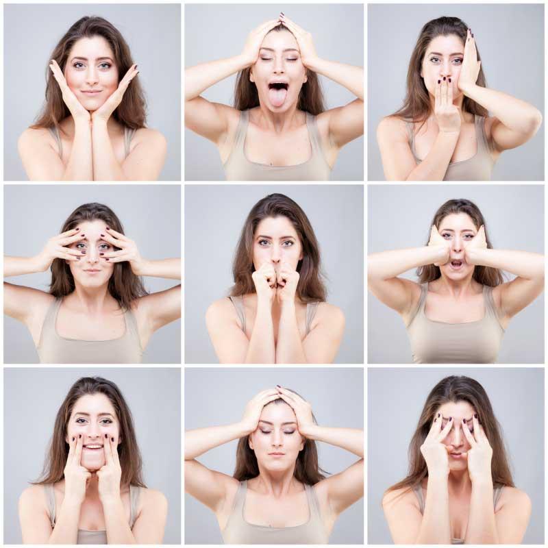 joga lica vežbe